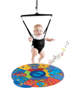 baby doorway jumper with musical mat