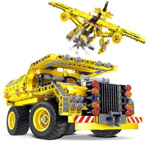 Truck & airplane building set