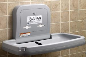 wall mounted baby changing station
